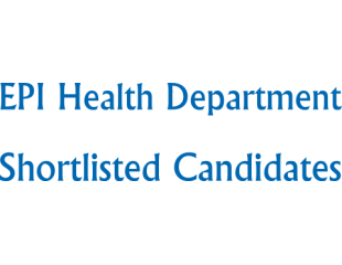 EPI Health Department NTS List of Shortlisted Candidates