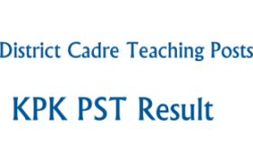 District Cadre Teaching Posts KPK NTS Test PST 14th 15th April Answer Keys Result