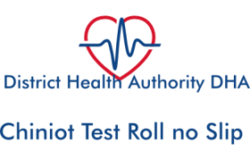 District Health Authority DHA Chiniot NTS Test Sunday 22nd April 2018 Roll no Slip