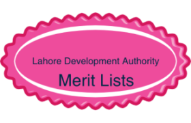 Lahore Development Authority LDA NTS Test Final Merit Lists Result