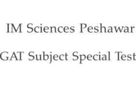 IM Sciences Peshawar NTS GAT Subject Special Test 6th May 2018 Answer Keys Result