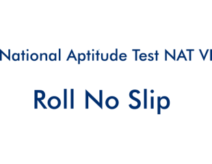 NTS National Aptitude Test NAT 2018 6 VI 3rd June 2018 Roll
