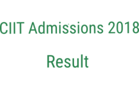 CIIT Admissions 2018 NTS Test 8th July 2018 Answer Keys Results