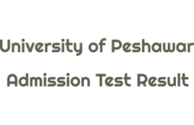 University of Peshawar BS Degree Programme NTS Admission Test Result