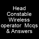 Head Constable Wireless operator NTS Written Test Syllabus Sample Papers Police Department Sindh