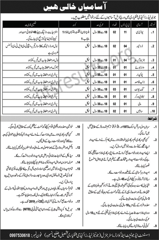 Junior Leaders Academy Shinkiari Mansehra Jobs