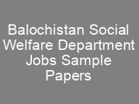 Social Welfare Department CTS Written Test Syllabus Sample Papers