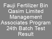 FFBL Management Associates Program 24th Batch NTS Test Result