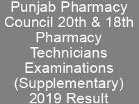 PPC 20th 18th Pharmacy Technicians Examinations NTS Test Result