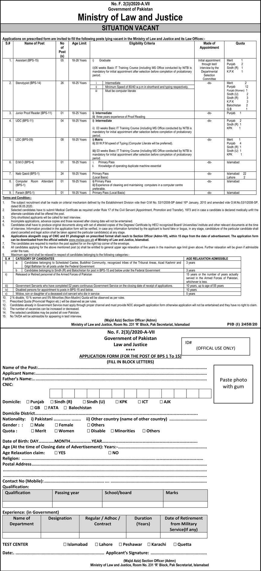 Molaw Ministry of Law Justice Jobs