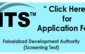 Faisalabad Development Authority NTS Jobs Application Form