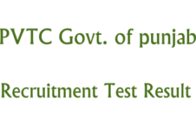 Punjab Vocational Training Council PVTC NTS 10th 11th March Result
