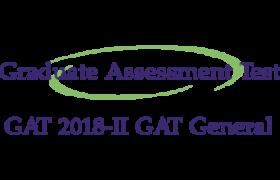 NTS Graduate Assessment Test GAT 2018 II 8th April 2018 Roll No Slip