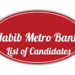 Habib Metro Bank NTS Test List of Candidates Roll no Slip 2018