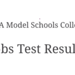 NTS Test CAA Model Schools College 30th June1st July 2018 Answer Keys Result
