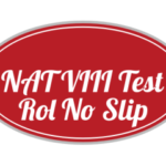 NAT National Aptitude Test VIII 8 NTS 5th August 2018 Roll No slip
