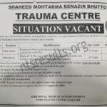Shaheed Mohtarma Benazir Bhutto Trauma Center Karachi Jobs Via NTS