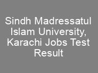 SMIU Sindh Madressatul Islam University Karachi NTS Test Result
