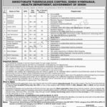 Directorate Tuberculosis Control Department Health Department Jobs Via NTS