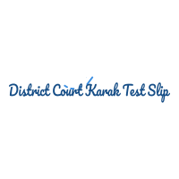 District Court DC Karak Jobs NTS Test Roll No Slip