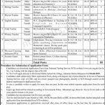 Divisional Public School College Khanewal Jobs Via NTS