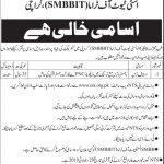 SMBBTC Shaeed Mohtarma Benazir Bhutto Institute Of Trauma Karachi SMBBIT Staff Nurses Jobs NTS Test Roll No Slip