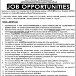 System Of Technical And Vocational Education And Training KPK STVET Jobs Via NTS