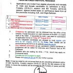 Pakistan Forest Institute PFI Peshawar MSc BS Forestry Program NTS Test Roll No Slip