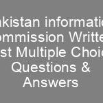 Pakistan information commission Jobs NTS Written Test Syllabus Sample Papers MCQS