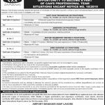 Civil Aviation Authority Jobs 2019 November Lahore Karachi