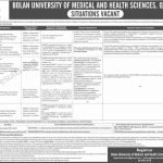 Bolan University of Medical and Health Sciences  BUMHS Jobs 2019