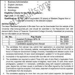 Govt College University Faisalabad GCUF Jobs Chiniot Campus