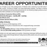 Bank of Punjab BOP RTO RM CSO CO Jobs NTS Test Answer Keys Result