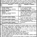 University of Engineering Technology UET Mardan Jobs November 2019
