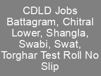 DC Office Battagram Chitral Lower Shangla Swabi Swat Torghar CDLD Jobs NTS Test Roll No Slip