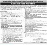 Directorate of Nursing Sindh BSc Nursing Degree Psychiatric Diploma NTS Test Roll No Slip