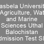 LUAWMS Admission NTS Roll No Slip Lasbela University of Agriculture, Water and Marine Sciences Uthal Balochistan