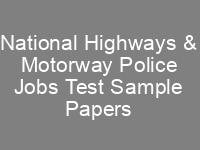 NHMP Jobs CTS Written Test Syllabus Sample Papers