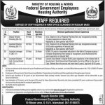 Federal Govt Employees Housing Foundation FGEHF Jobs NTS Roll No Slip Ministry of Housing & Works