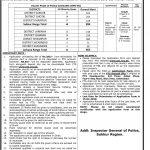 Sindh Police Department Sukkur Region PTS Roll No Slip