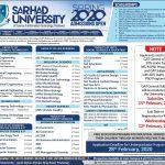 SUIT Spring Admissions MS PHD Program ETEA Result Merit List Sarhad University of Science and Information Technology Peshawar