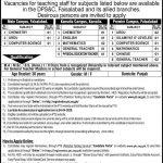 Divisional Public School College Faisalabad Jobs PTS Roll No Slip DPS&CF 406