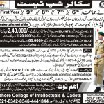 LCIC Admission Scholarship Test NTS Roll No Slip Lahore College of Intellectuals Cadets