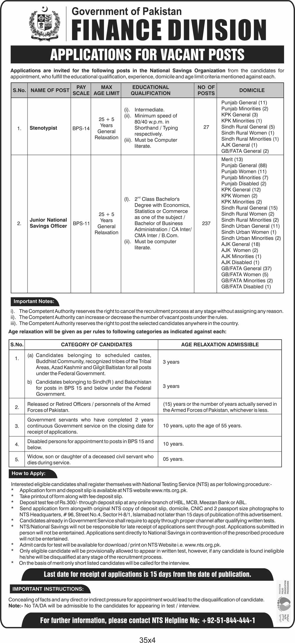 Central Directorate Of National Savings Jobs NTS Answer Keys Result Finance Division & Aghaz-E-Haqooq-E-Balochistan