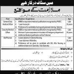 Jobs in Lahore Punjab Rangers Teaching Hospital July 2020