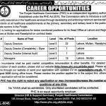 Punjab Healthcare Commission PHC Jobs NTS Roll No Slip