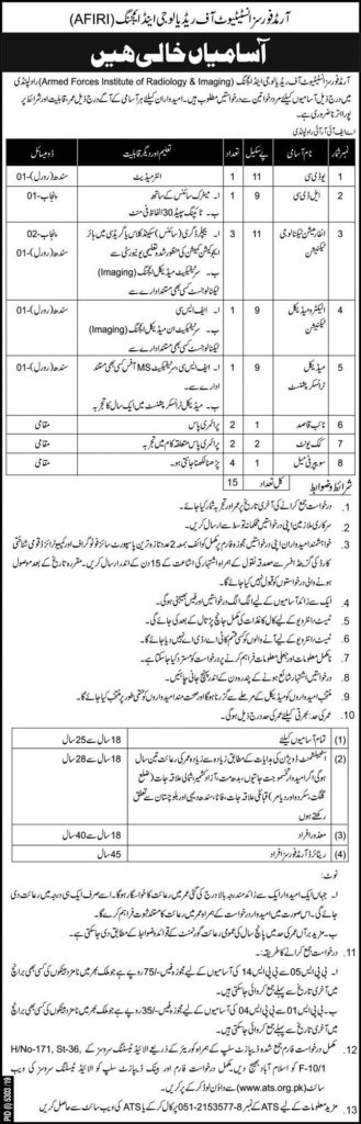 Armed Forces Institute of Radiology imaging AFIRI Jobs ATS Result Interview Result