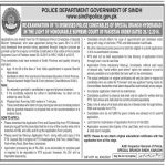 Sindh Police Special Branch Hyderabad Police Constable Jobs PTS Result