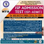 Institute of Southern Punjab MS MPhil MBA Admissions NTS Result Merit List