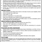 Pakistan Science Foundation PSF Scholarships STFS 5th Batch CTS Result